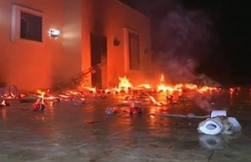 Aftermath of Benghazi Embassy attack