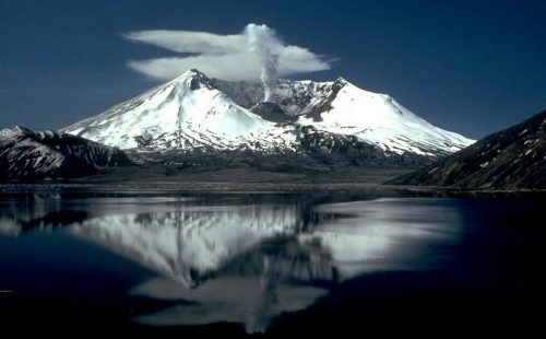 Mount St. Helens as it appeared two years after its catastrophic eruption on May 18, 1980. Image-USGS