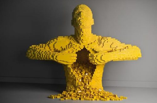 "Nathan Sawaya, ""Yellow,"" LEGO bricks. Image credit: Courtesy of brickartist.com"