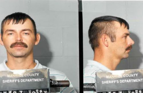 Joseph May in a 1990's manatee County Booking photo.