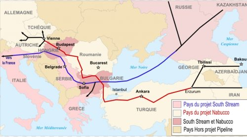 Pipeline South Stream and Nabucco. Image-Boban Markovic