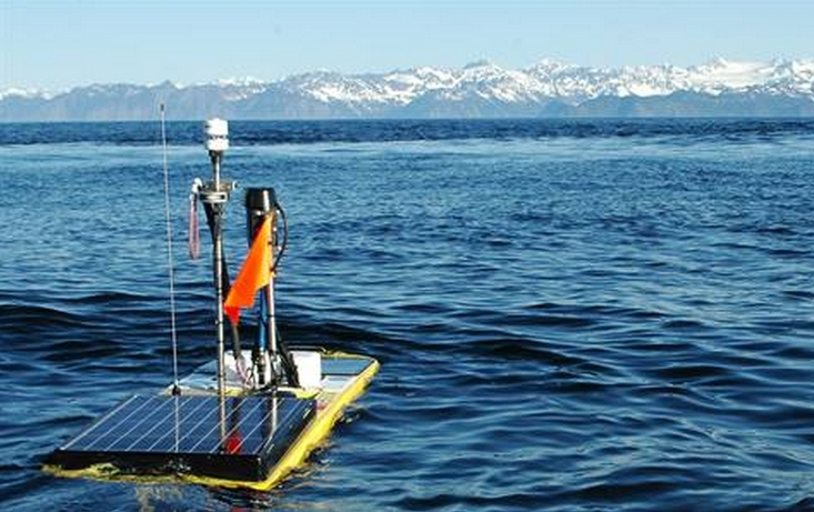 Carbon Wave Glider in Prince William Sound. Image- NOAA
