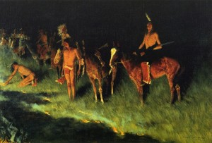 The Grass Fire by Frederic Remington. Image-Public Domain