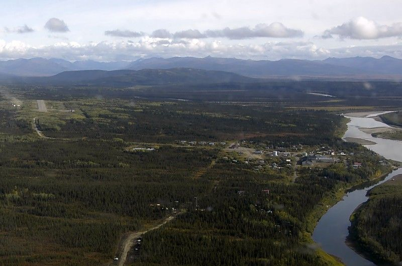 Aerial view of Ambler. Image-ANTHC