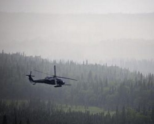 File photo of Air National Guard HH-60 Pavehawk performing simulated Search and Rescue. Image-Air National Guard