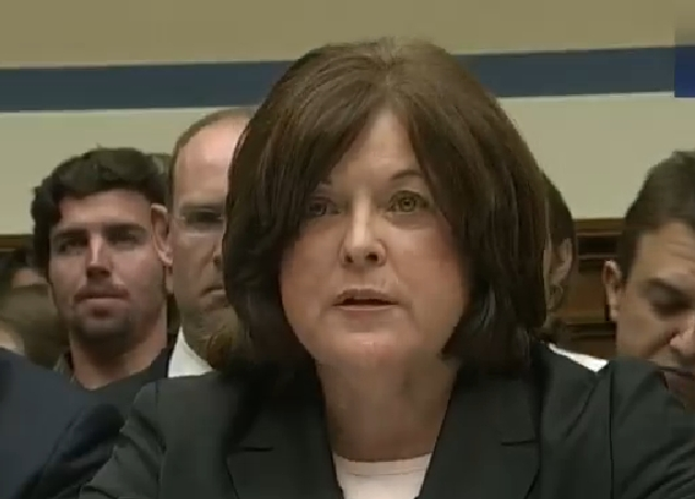 Secret Service Director Julia Pierson testifying before the House Oversight and Government Reform Committee on Tuesday.
