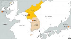 Map of Koreas. Image-VOA