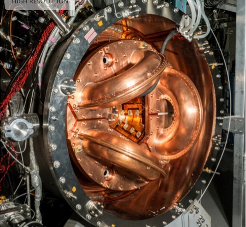 The UW's current fusion experiment, HIT-SI3. It is about one-tenth the size of the power-producing dynomak concept. Image-University of Washington