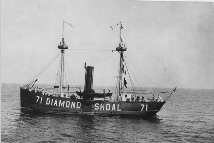 Photo of Diamond Shoal Lightship No. 71. (Photo: NOAA/Monitor National Marine Sanctuary)