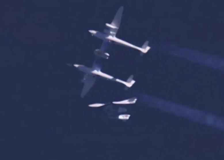 Launch of Virgin Galactic's SpaceShipTwo. Image-Virgin Galactic