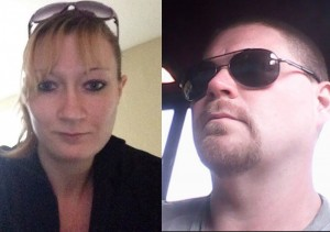 Leticia Faller(left) was allegedly shot and killed by Benjamin Wilson(right) on Snday night. He has since been indicted. Images-Facebook profiles
