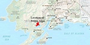 Map showing location of proposed Pebble mine.