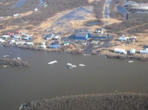 Partial aerial view of Napaskiak. Image-State of Alaska