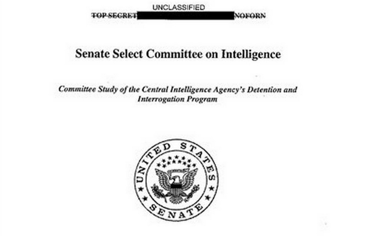 Cover of damning report on CIA's enhanced interrogation techniques.