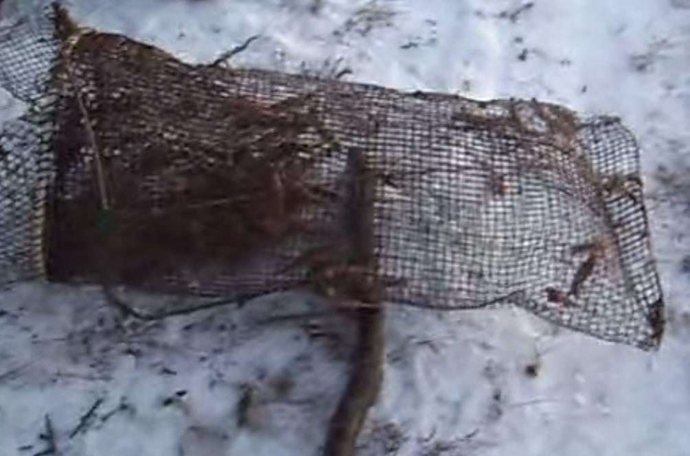 Daniel Tunutmoak was out setting traps similar to this when his snow machine broke down sparking a search of his whereabouts.