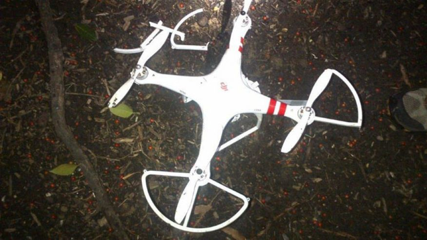Quadcopter that crashed on White House grounds on Monday. Image-Secret Service
