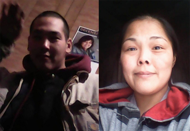 Authorities believe the remains retrieved from the Kuskokwim River are those of George Evan (left) Sally Stone (right) still remains missing.