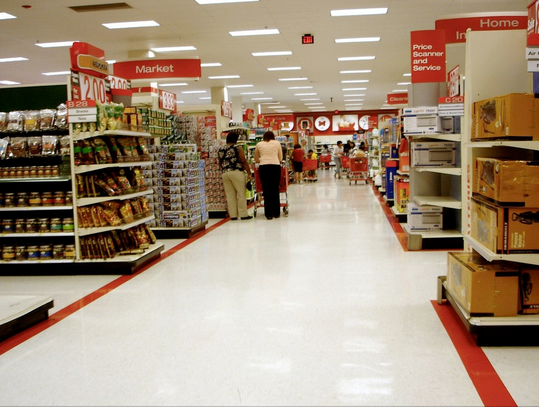 Interior of Target store. Image-Peter Romano