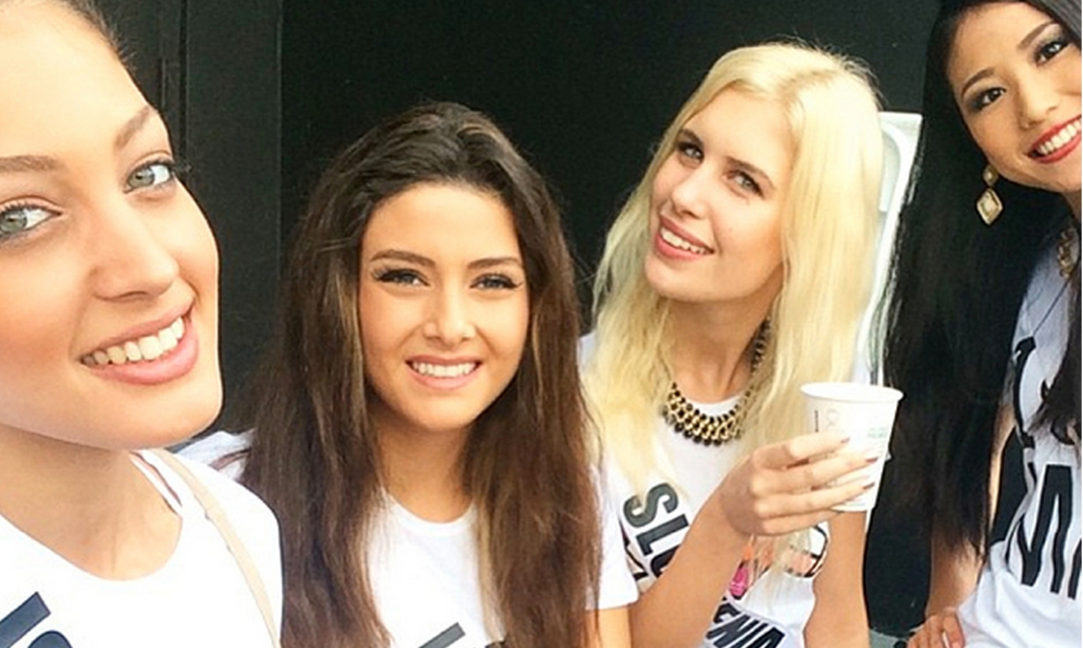 Miss Israel, Miss Lebanon, Miss Slovenia and Miss Japan shown in image together. Image-Instagram