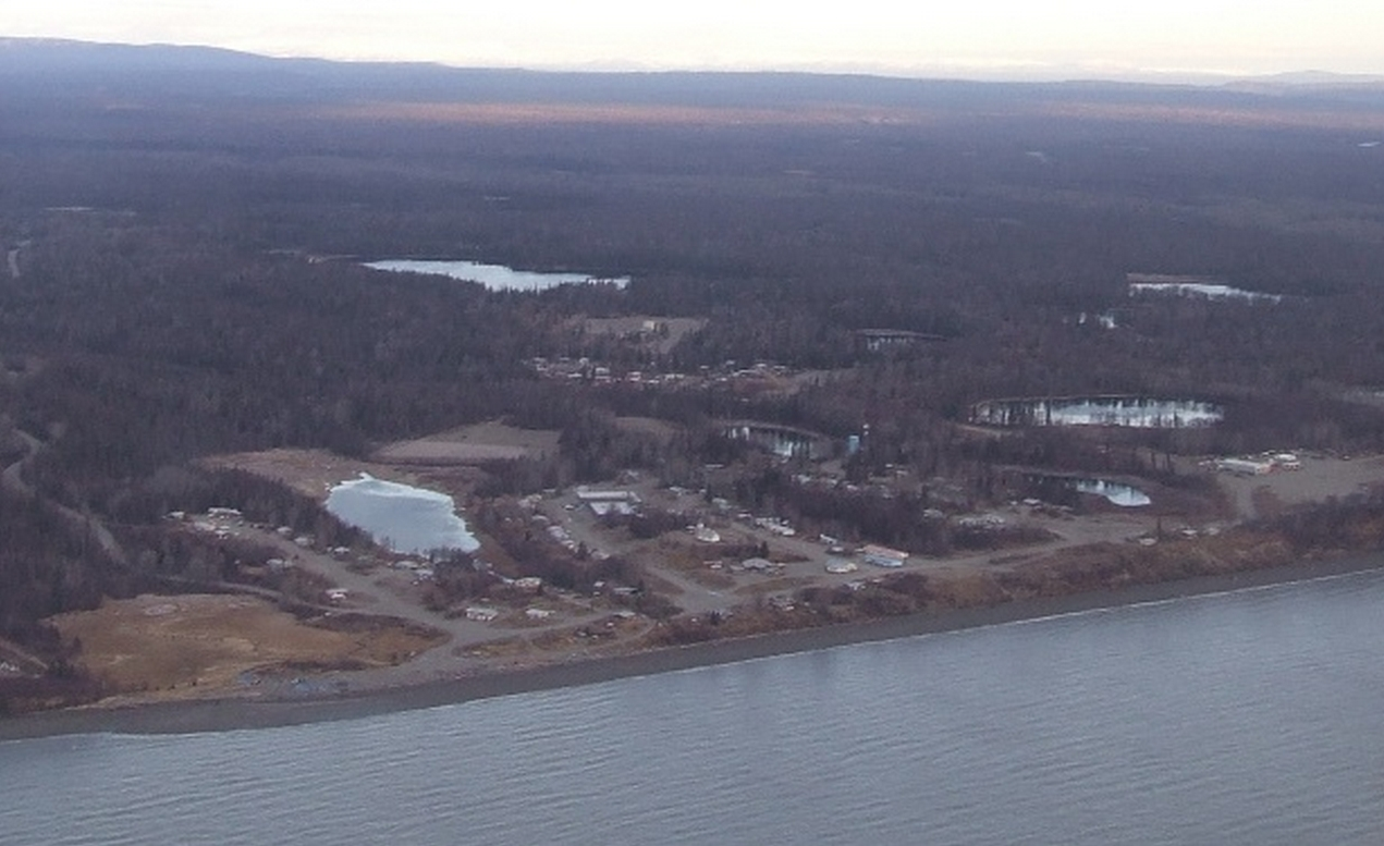 The small Athabaskan community of Tyonek is located on the western shores of Cook Inlet. Image-Thester11