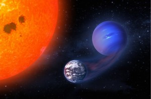 Strong irradiation from the host star can cause planets known as mini-Neptunes in the habitable zone to shed their gaseous envelopes and become potentially habitable worlds.Rodrigo Luger / NASA images