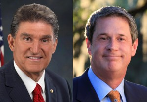 Sens. Manchin (right) and Vitter (left) re-introduced SB 54, legislation that would strip Clean Water Act provision that EPA is utilizing to limit or restrict discharge into U.S. waters.