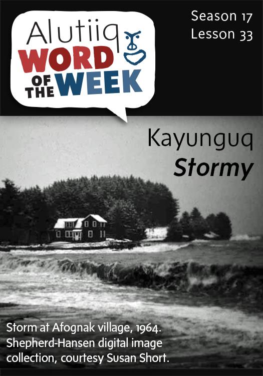 Stormy-Alutiiq Word of the Week-February 8, 2015