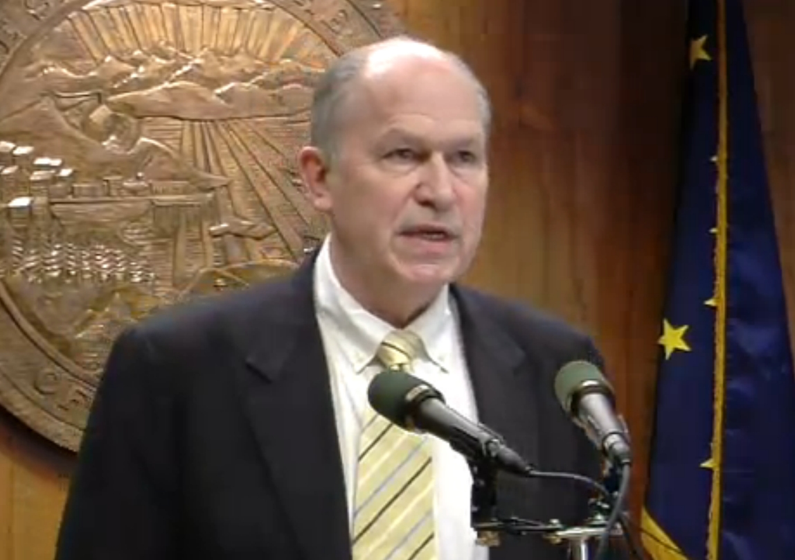 Governor Walker discussing his amended budget for 2016. Image-State of Alaska