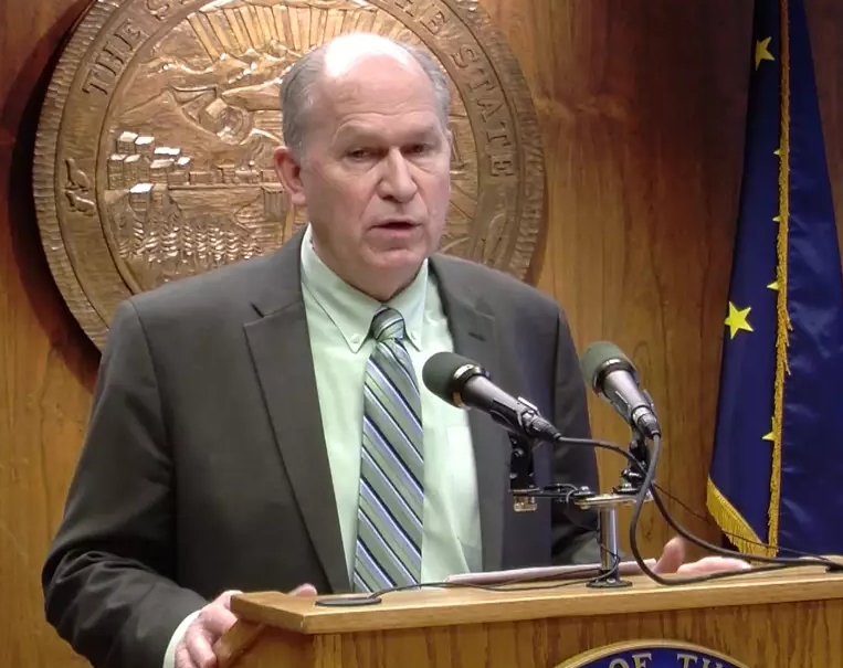 Governor Walker at his February 11th press conference. Image-State of Alaska