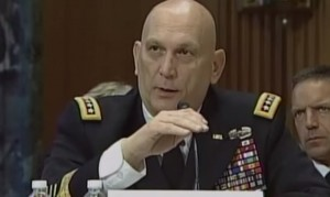 General Odierno answering questions posed to him at Wednesday's Senate Appropriations Subcommittee hearing.
