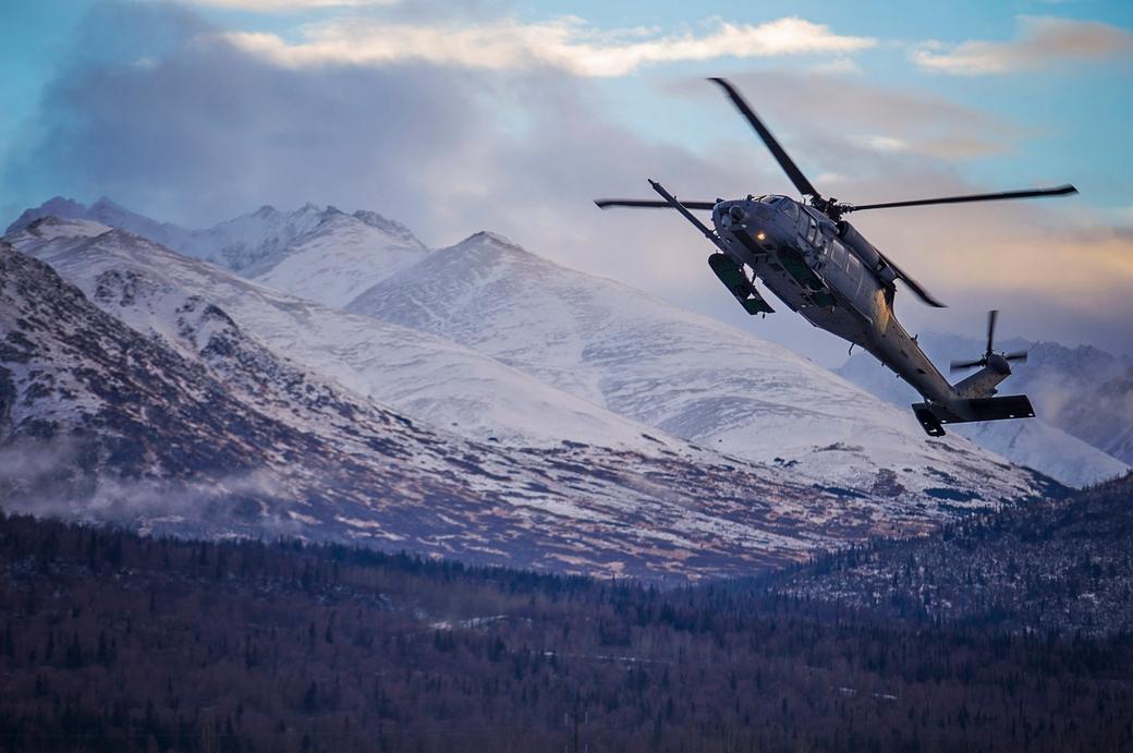 Alaska Air Guardsmen Rescue Stranded Hiker near McHugh Creek