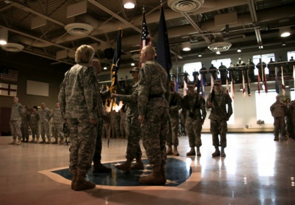 The Alaska Army National Guard welcomed a new commander during a change of command ceremony at the Alaska National Guard armory on Joint Base Elmendorf-Richardson March 22. Image-Sgt Marisa Linsay
