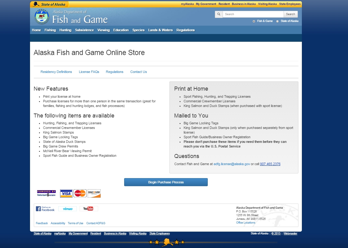 Fish and game launches improved online store offers print for Buy fishing license online