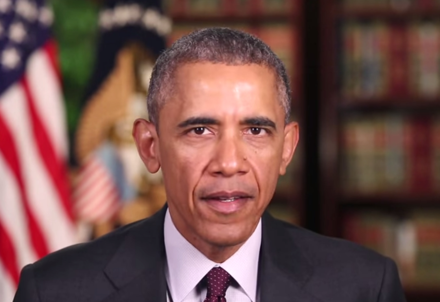 President Obama addressing the Iranian Nuclear agreement in his weekly address from the White House