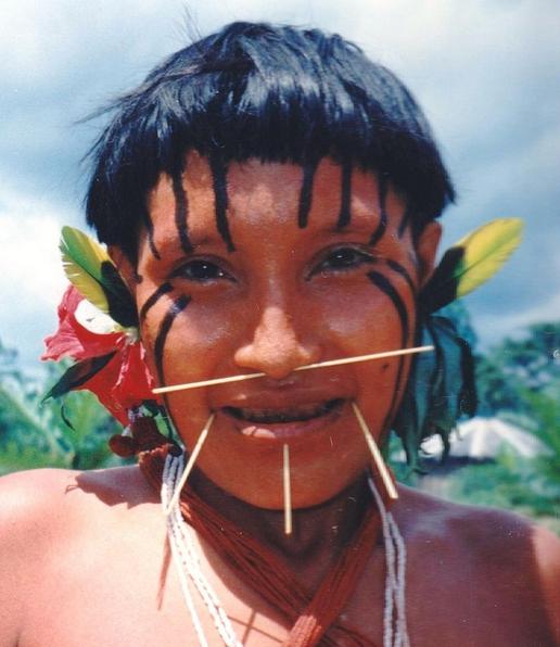 Yanomami girl in Xidea, Brazil. Image-C Macauley/Wikipedia Commons