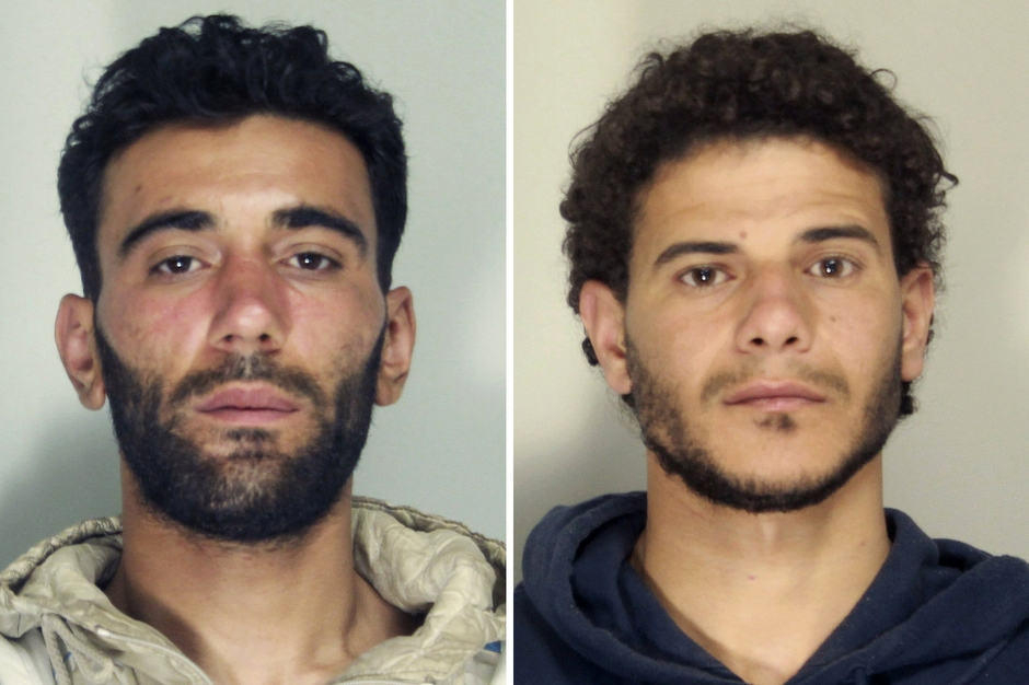 Gregoretti captain, Mohammed Ali Malek, and crewmember, Mahmud Bikhit, have been arrested into the sinking of the migrant ship. Image-Italian Police