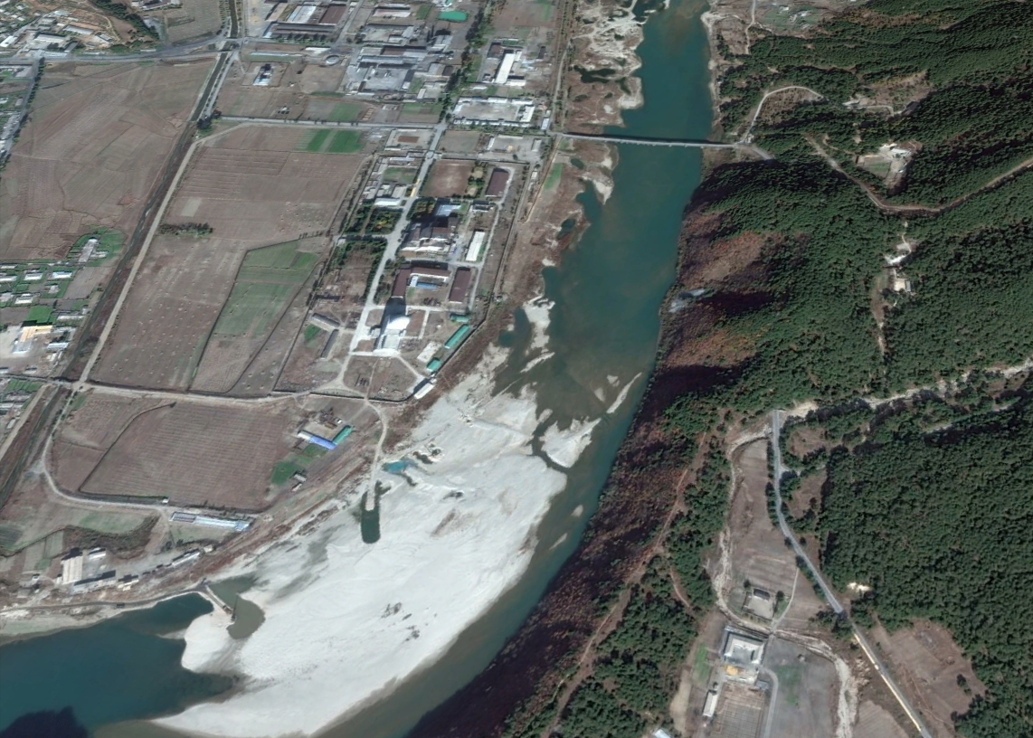 The U.S.-Korea Institute at Johns Hopkins School of Advanced International Studies says that N. Korea has resumed work at the Yongbyon nuclear facility. Image-Google Earth