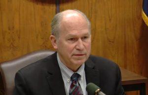 Governor Walker at April 30th press conference. Image-State of Alaska