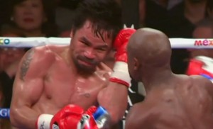 Floyd Mayweather Jr prevailed over Manny Pacquiao in Saturday's  welterweight unification title fight.