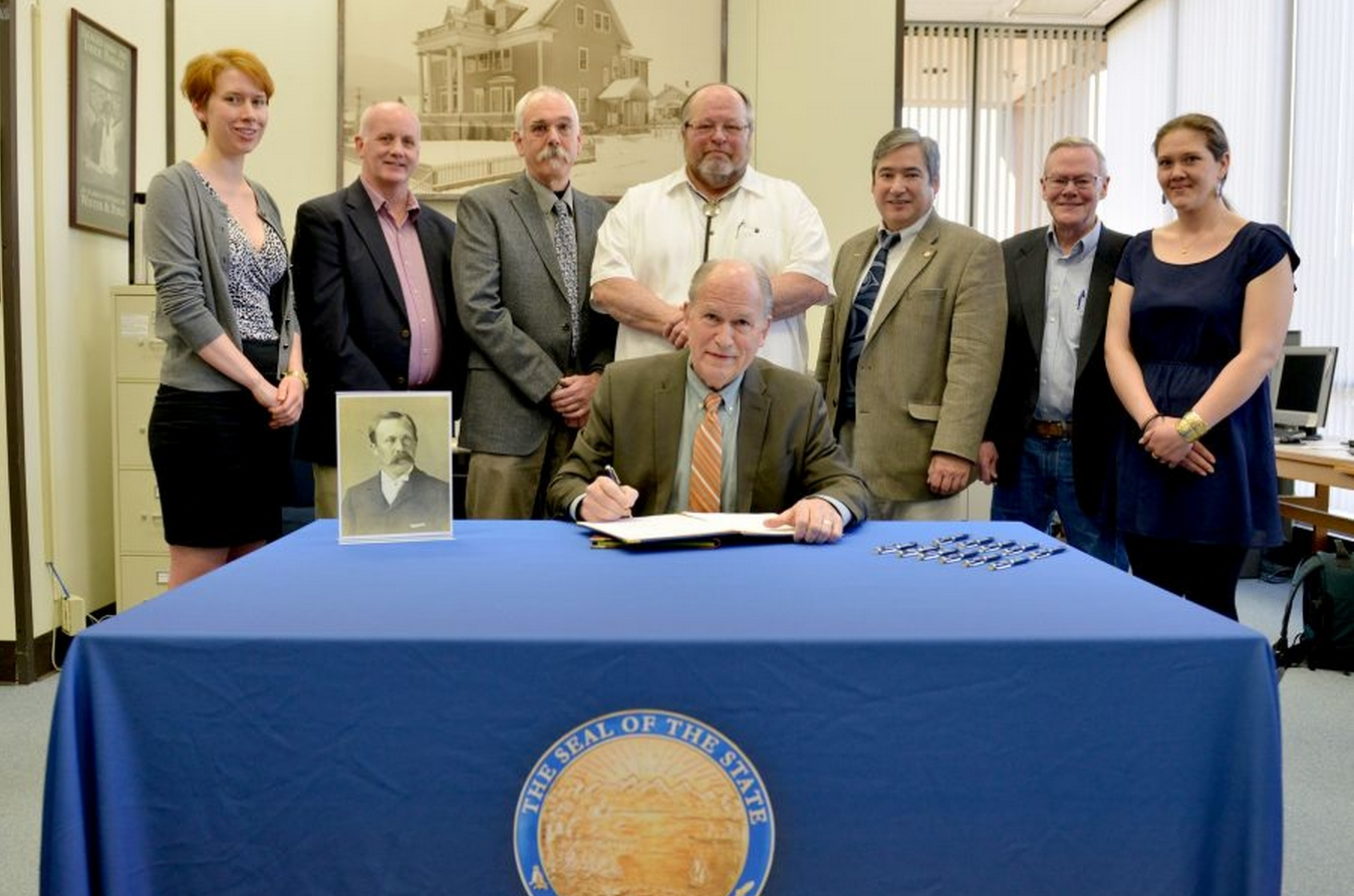Governor Bill Walker signed three bills into law on Tuesday, May 5, 2015, at ceremonies in Anchorage and Juneau. Those bills, HB 140, HB 56, and SB 63, were passed during the first session of the 29th Alaska Legislature.