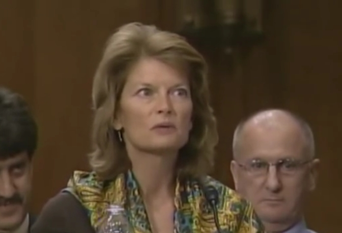 Senator Murkowski speaking on pirate fishing to the Foreign Relations Committee in February of 2014. Image-Senator Murkowski