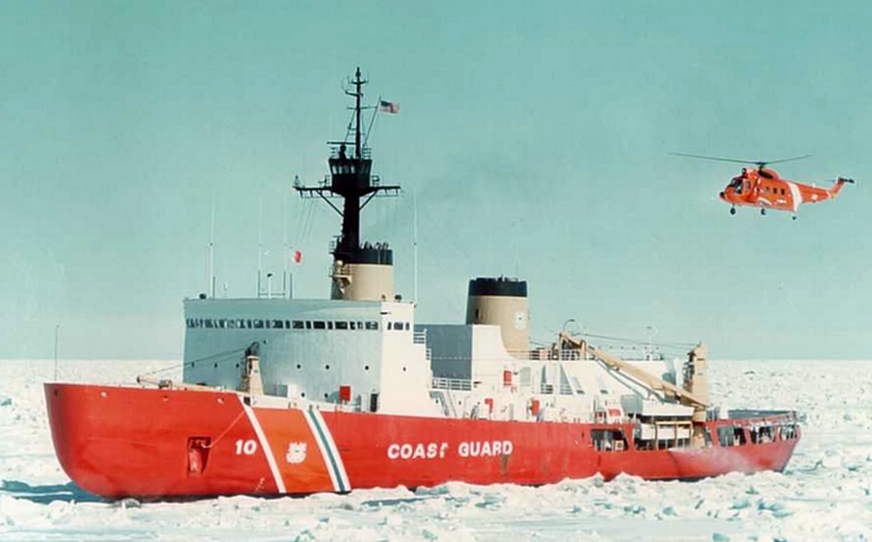 The Polar Star is the United States' only heavy icebreaker. In contrast, Russia has 11 such vessels. Image-USCG