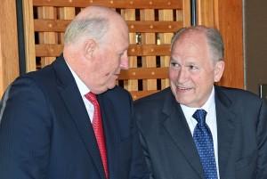 King Harald and Governor Bill Walker. Photo: Sven Gj. Gjeruldsen, the Royal Court
