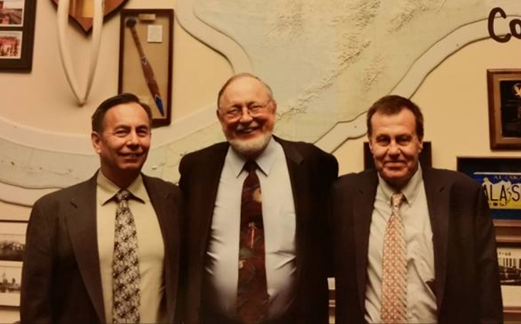 Don Young with Rinehart and Barlow. Image-Sealaska