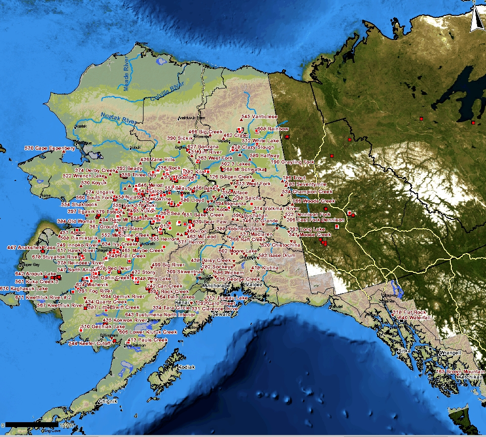 The Alaska Interagency Coordination Center's map shows the multitude of fires now burning in the state. The interactive map can be accessed at AICC/Fire Information.