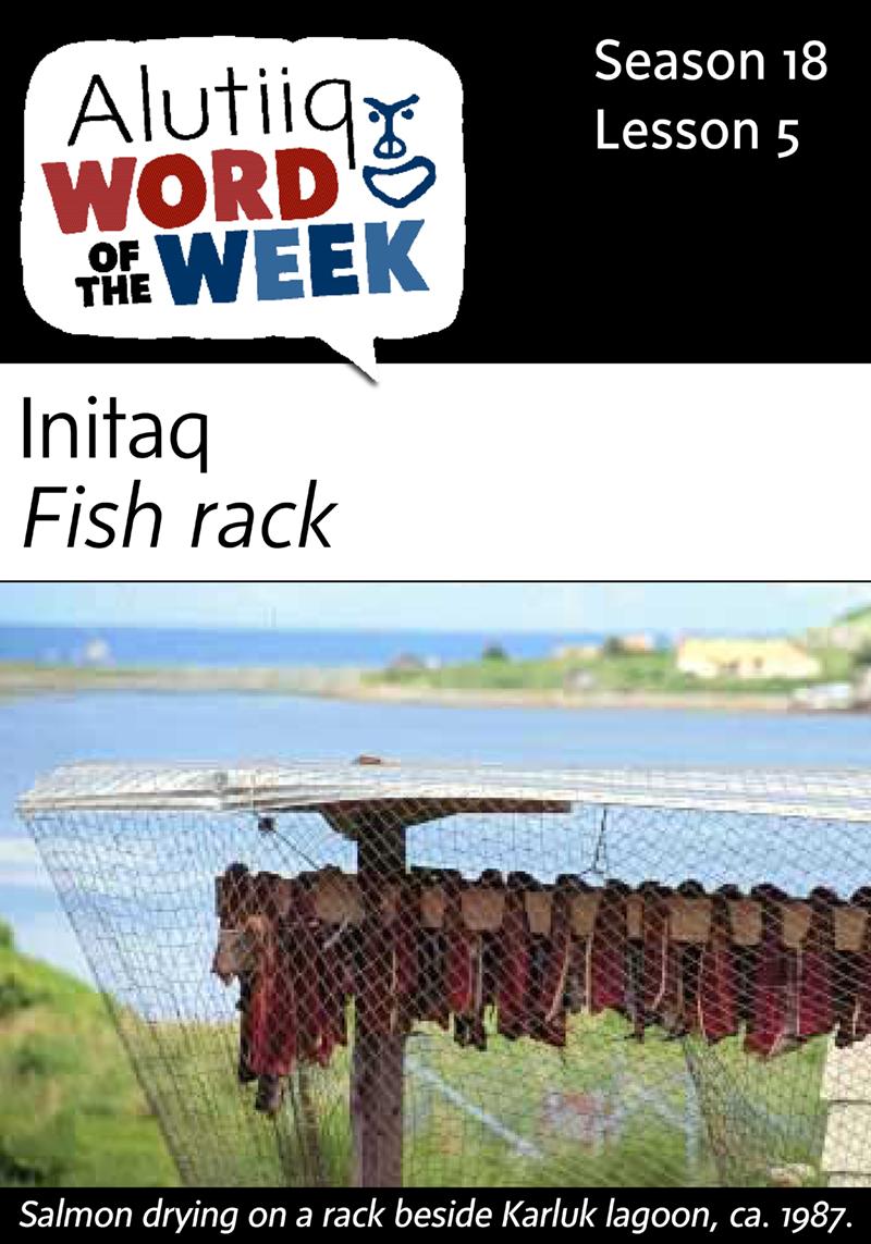 Fish Rack-Alutiiq Word of the Week-July 26
