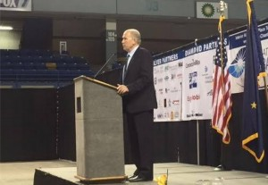 Governor Walker in Fairbanks speaking on the Interior Energy Project. Image-State of Alaska