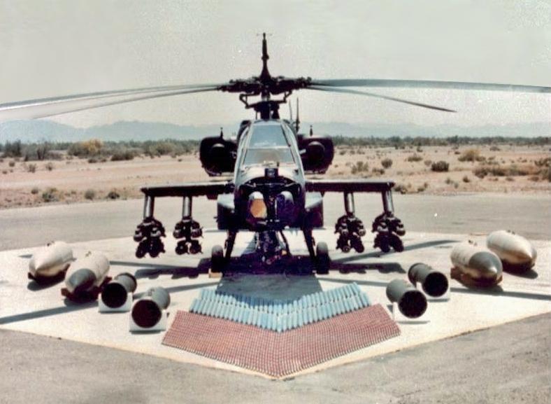 Weapon loadout of the AH-64 Apache. Image-U.S. Arrmy