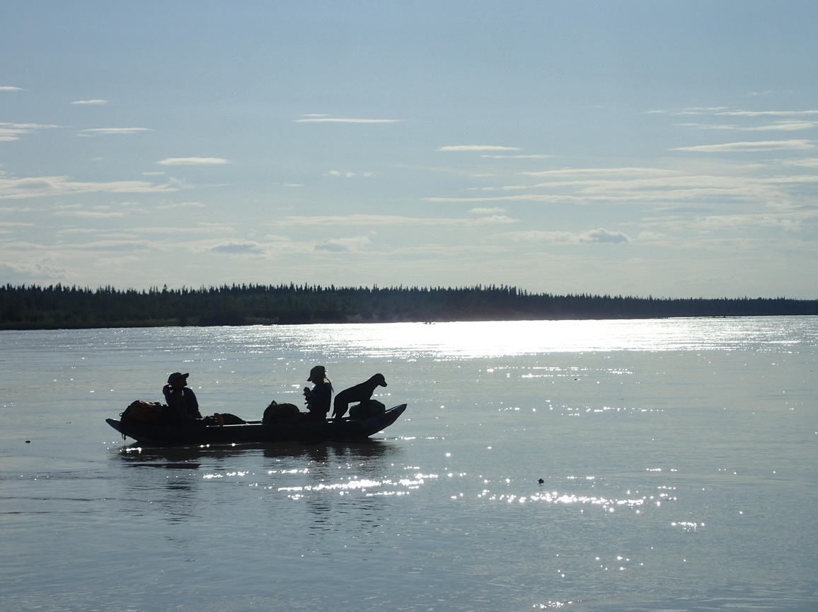 The middle Tanana River, as quiet now as it was a century ago. Photo by Ned Rozell.