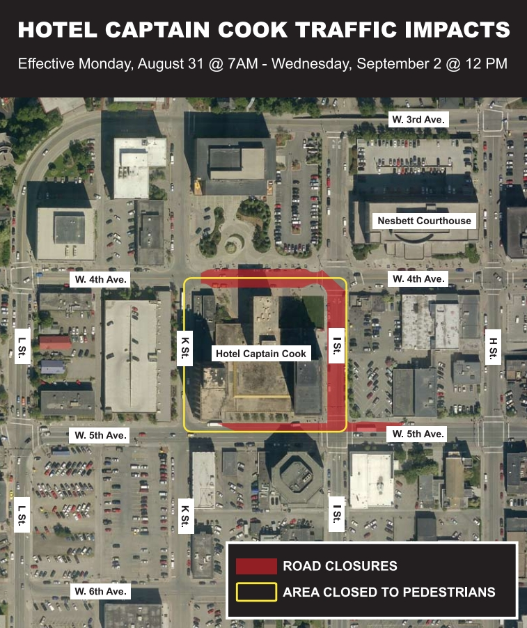 Downtown Traffic Changes During GLACIER Conference and Presidential Visit